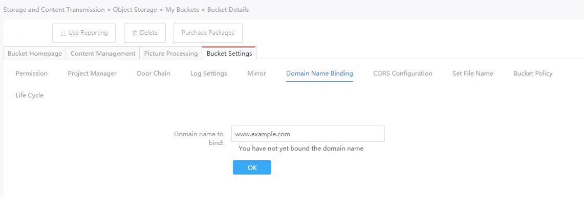 Domain Name Binding