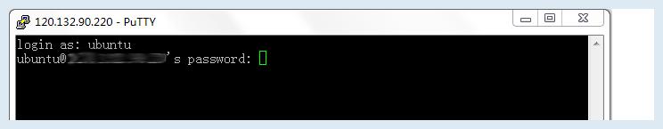 步骤三:连接云服务器